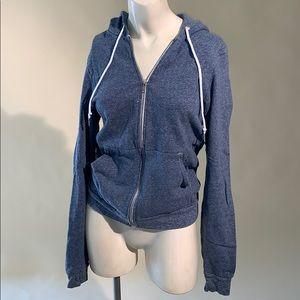 blue American apparel hoodie XS
